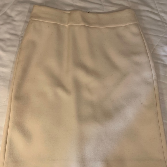 J. Crew Dresses & Skirts - J Crew Winter White Wool Pencil Skirt 0p